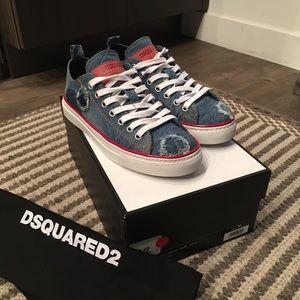 Dsquared2 Men's Denim Sneaker ( navy) size 40